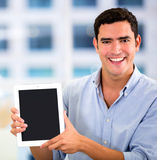 Businessman with a tablet computer Royalty Free Stock Photography