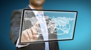 Businessman tablet concept Stock Photo