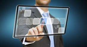 Businessman tablet concept Royalty Free Stock Photography