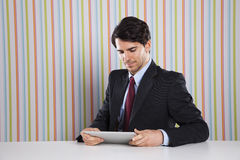Businessman with tablet device Stock Photo