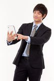 Businessman with tablet PC Royalty Free Stock Images