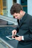 Businessman tablet PC Royalty Free Stock Photos