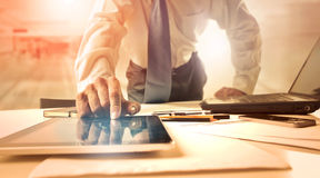 Businessman with a tablet Royalty Free Stock Images