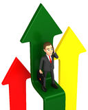 Businessman take the elevator arrow Stock Image