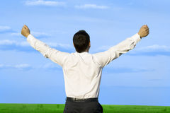 Free Businessman Take Energy From Nature Stock Images - 9421064