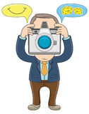 Businessman -  Take a picture Stock Photo