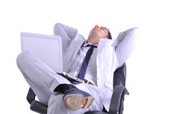 Businessman take a rest Stock Image