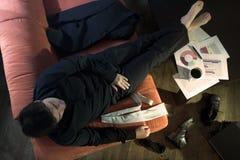 Businessman takes a break Stock Photo