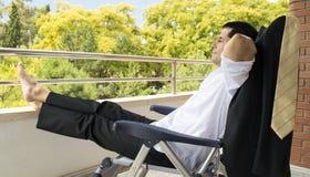 Businessman takes a break Royalty Free Stock Photo