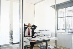 Businessman Taking Break From Work Stock Images