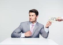 Businessman taking bribe Royalty Free Stock Photo