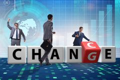 The businessman taking chance for change. Businessman taking chance for change royalty free stock photo