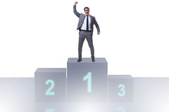 The businessman taking first place in competition. Businessman taking first place in competition Royalty Free Stock Image