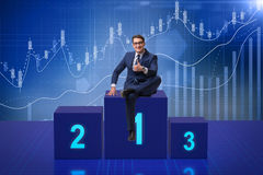 The businessman taking first place in competition. Businessman taking first place in competition Royalty Free Stock Images