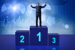 The businessman taking first place in competition Royalty Free Stock Photo