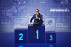 The businessman taking first place in competition Royalty Free Stock Images