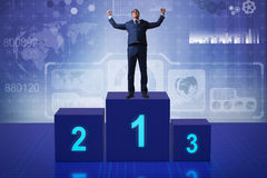 The businessman taking first place in competition Royalty Free Stock Image