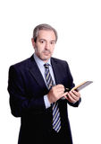Businessman taking notes stock images