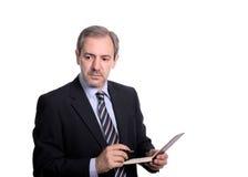 Businessman taking notes Stock Image