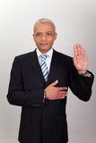 Businessman Taking Oath stock photos