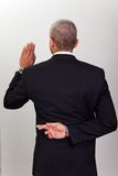 Businessman Taking Oath Royalty Free Stock Photography