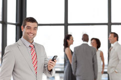 Businessman taking on the phone Royalty Free Stock Image