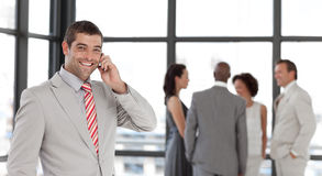Businessman taking on the phone Royalty Free Stock Photos