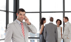 Businessman taking on the phone Royalty Free Stock Images