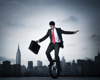Businessman Taking A Risk In New York City Royalty Free Stock Photography