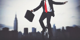 Businessman Taking A Risk In New York City Royalty Free Stock Photos