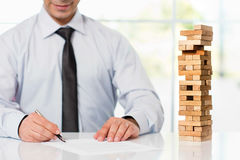 Businessman Taking Risk And Starting New Business Stock Photo