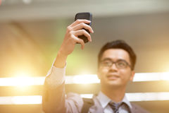 Businessman taking selfie Royalty Free Stock Image