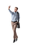 Businessman  taking selfie Royalty Free Stock Photography