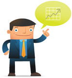 Businessman talk about profit Stock Image