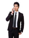 Businessman talk to cellphone Stock Photo