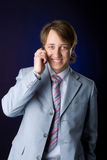 Businessman talking. On cell phone Royalty Free Stock Image