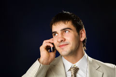 Businessman talking Stock Image