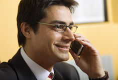 Businessman talking Royalty Free Stock Images