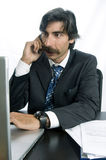 Businessman Talking Business On His Mobile Phone Royalty Free Stock Photo