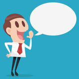 Businessman talking. Cartoon Stock Images