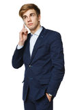 Businessman talking on cellphone Stock Photo