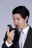 Businessman talking on the cellular Royalty Free Stock Photography