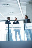 Businessman talking with colleague Stock Image
