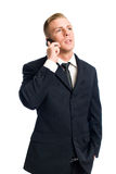 Businessman talking on his cellphone. Stock Image