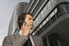 A businessman talking on his cellphone. royalty free stock photo