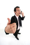 Businessman talking on his mobile Stock Image