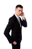 Businessman talking on his mobile phone Royalty Free Stock Photography