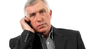 Businessman talking on his mobile phone. stock footage