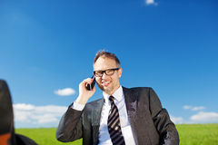 Businessman talking on his mobile Royalty Free Stock Photo