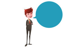 Businessman talking Stock Photography